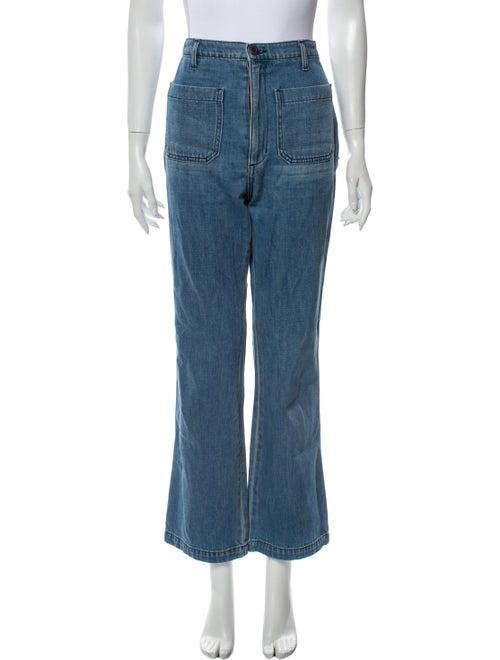 Dôen High-Rise Wide Leg Jeans Blue