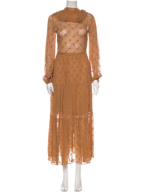Dôen Lace Pattern Long Dress