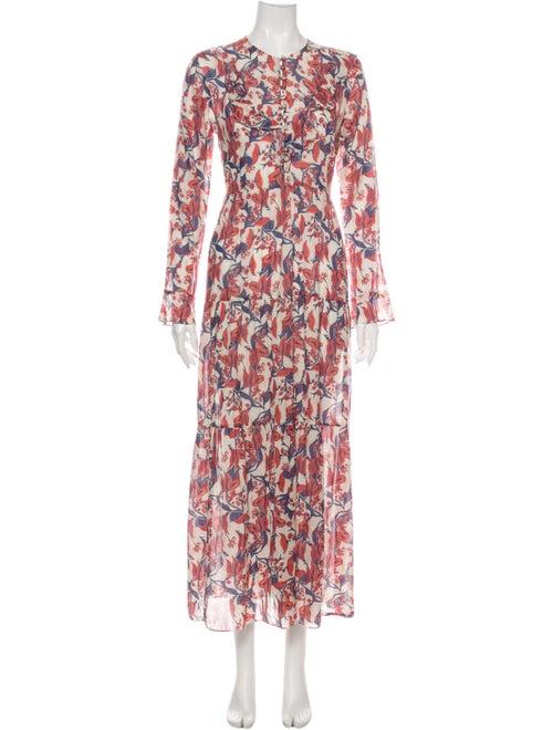 Dôen Floral Print Long Dress