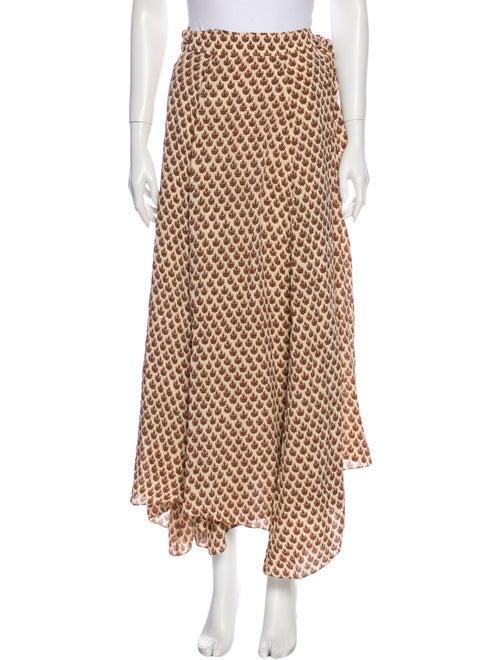 Dôen Printed Long Skirt w/ Tags Brown