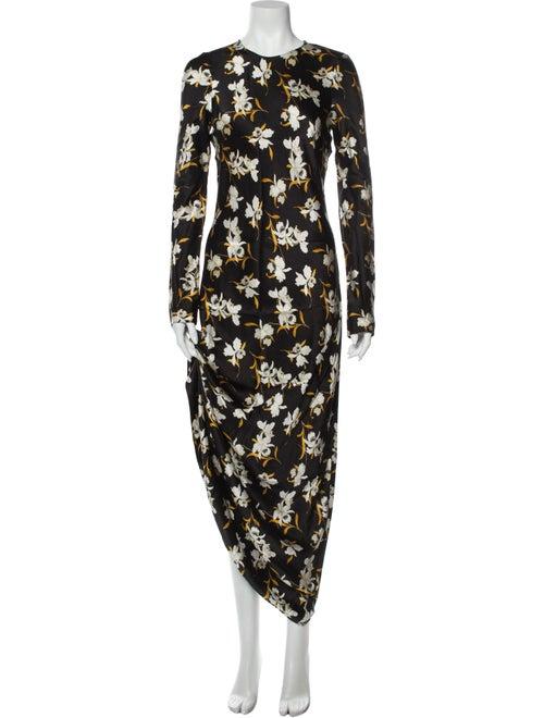 Dôen Silk Long Dress Black