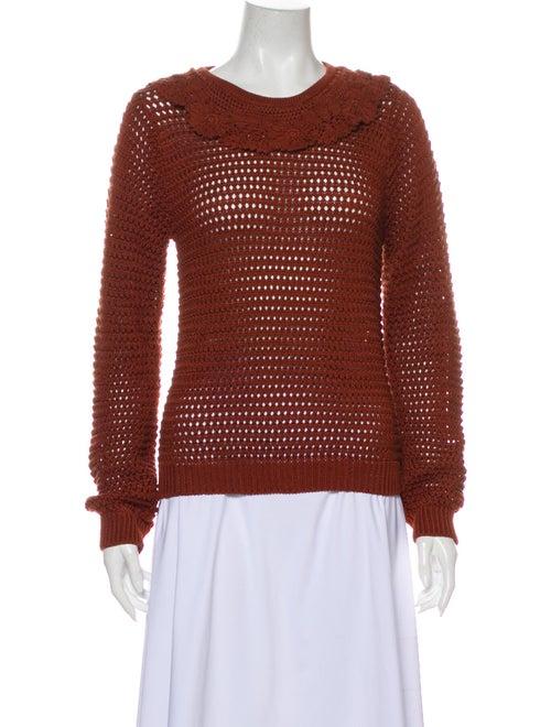 Dôen Scoop Neck Sweater Orange