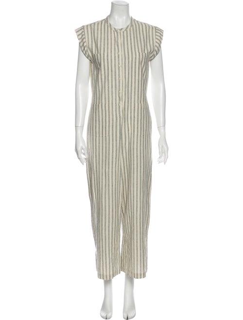 Dôen Silk Striped Jumpsuit