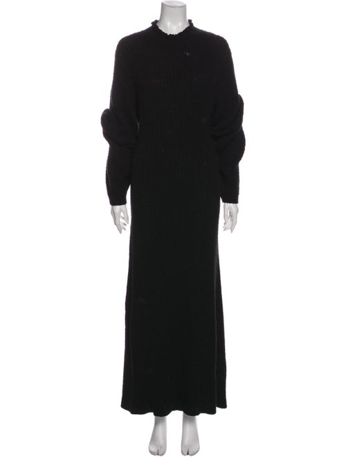 Dôen Mock Neck Long Dress Black