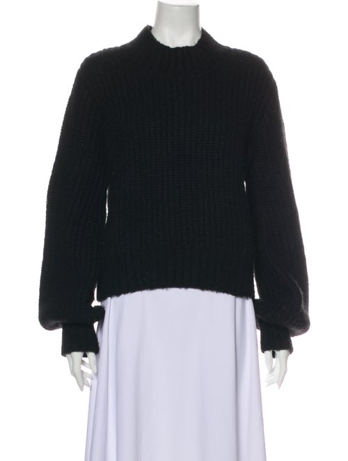 Dôen Mock Neck Sweater Black