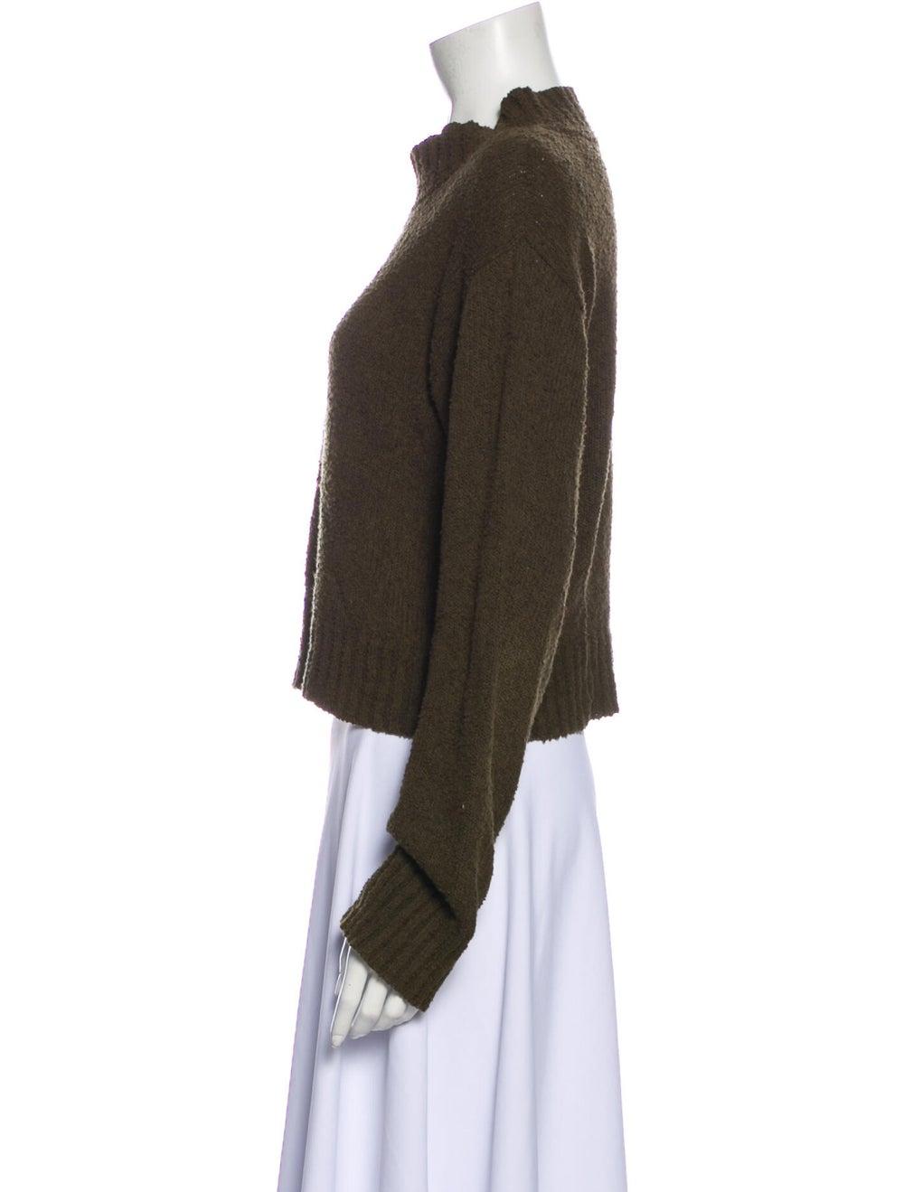 Dôen Mock Neck Sweater Green - image 2