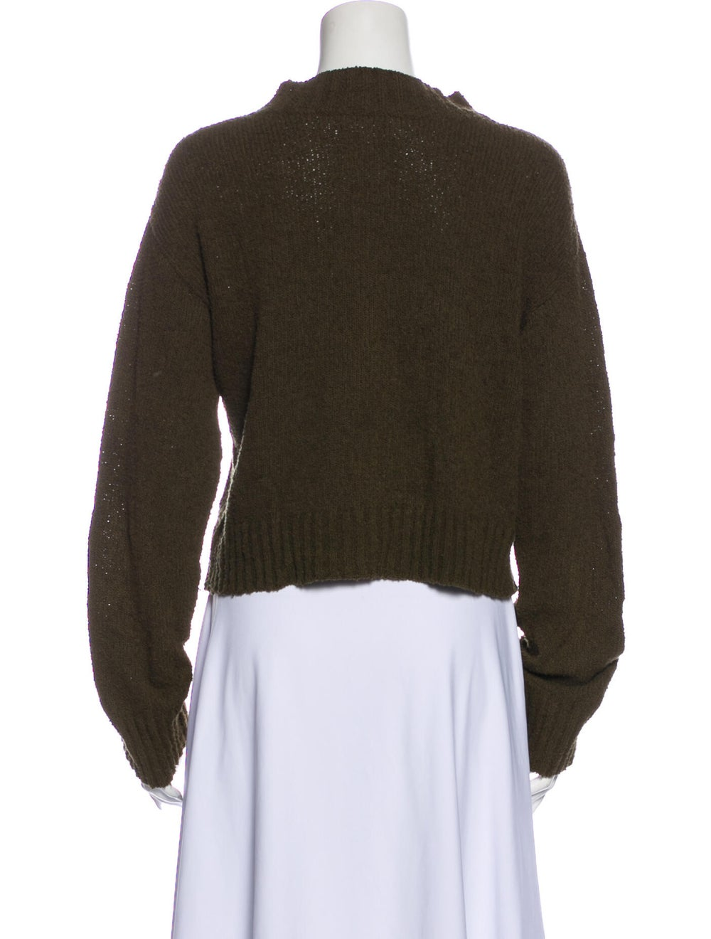 Dôen Mock Neck Sweater Green - image 3