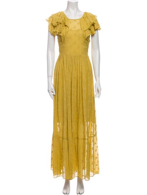 Dôen Crew Neck Long Dress Gold