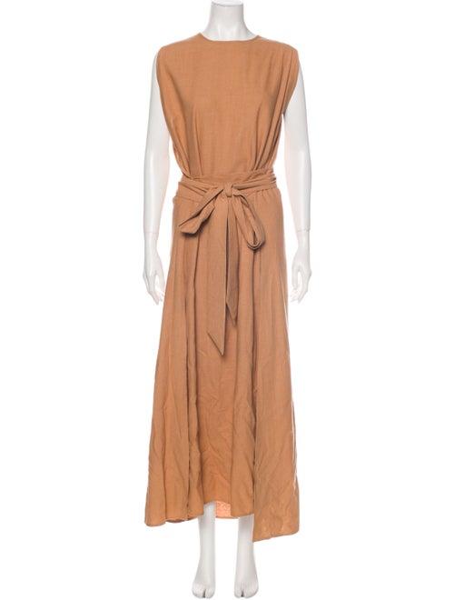 Dôen Silk Long Dress Orange