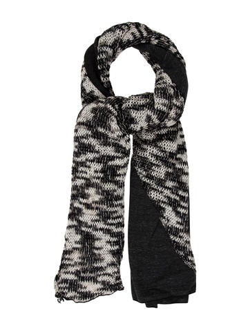 Donni Charm Fringe-Trimmed Knit Scarf w/ Tags None
