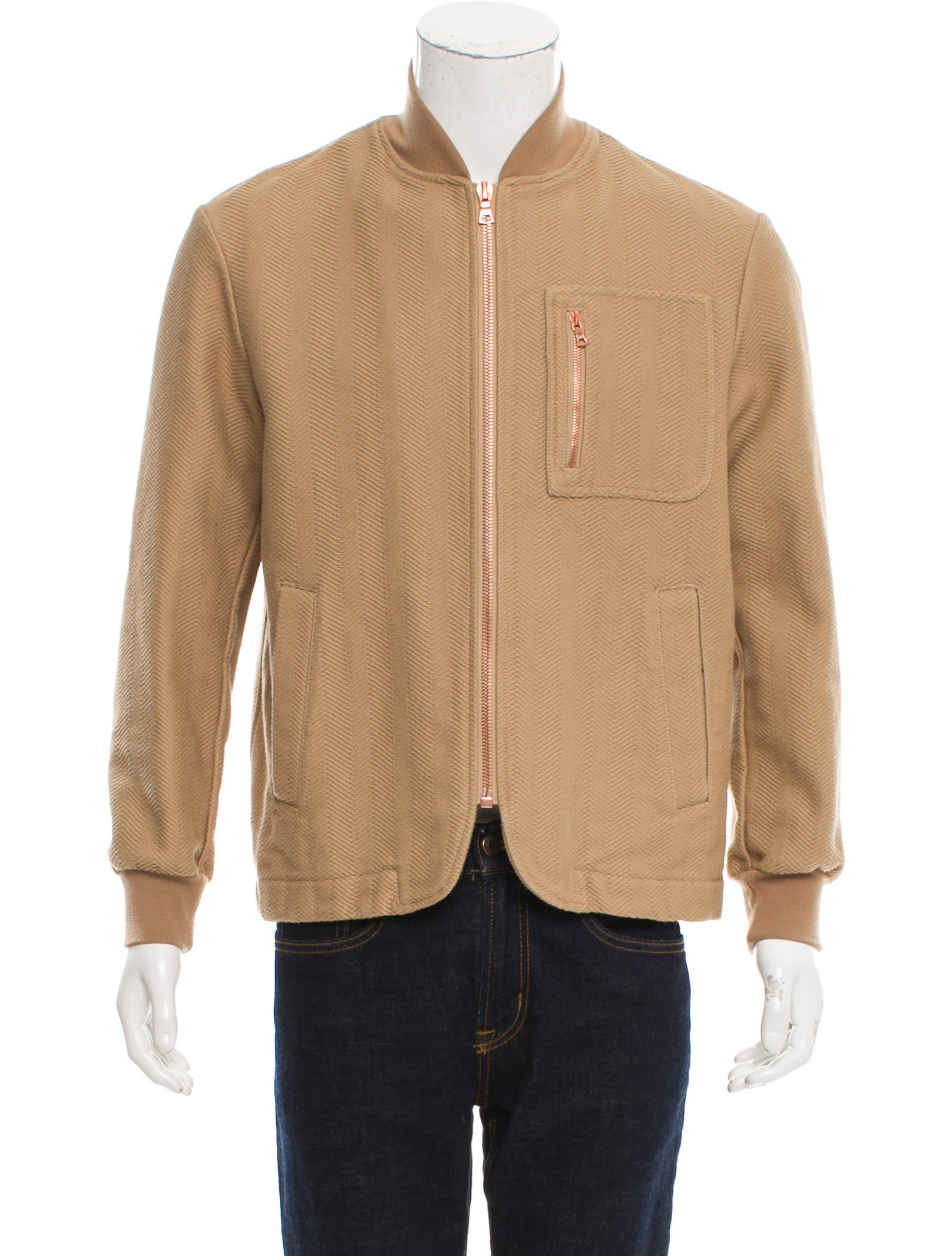 Doppiaa woven zip front jacket w tags clothing Woven t shirt tags