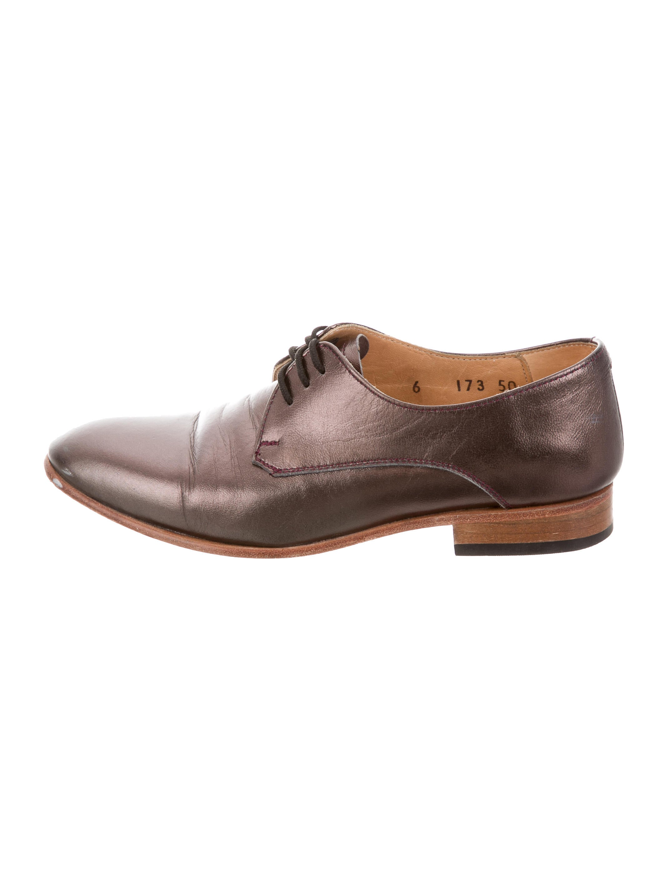 outlet best sale Dieppa Restrepo Metallic Leather Oxfords for sale cheap price newest cheap price cheap for sale LDY9UHvn