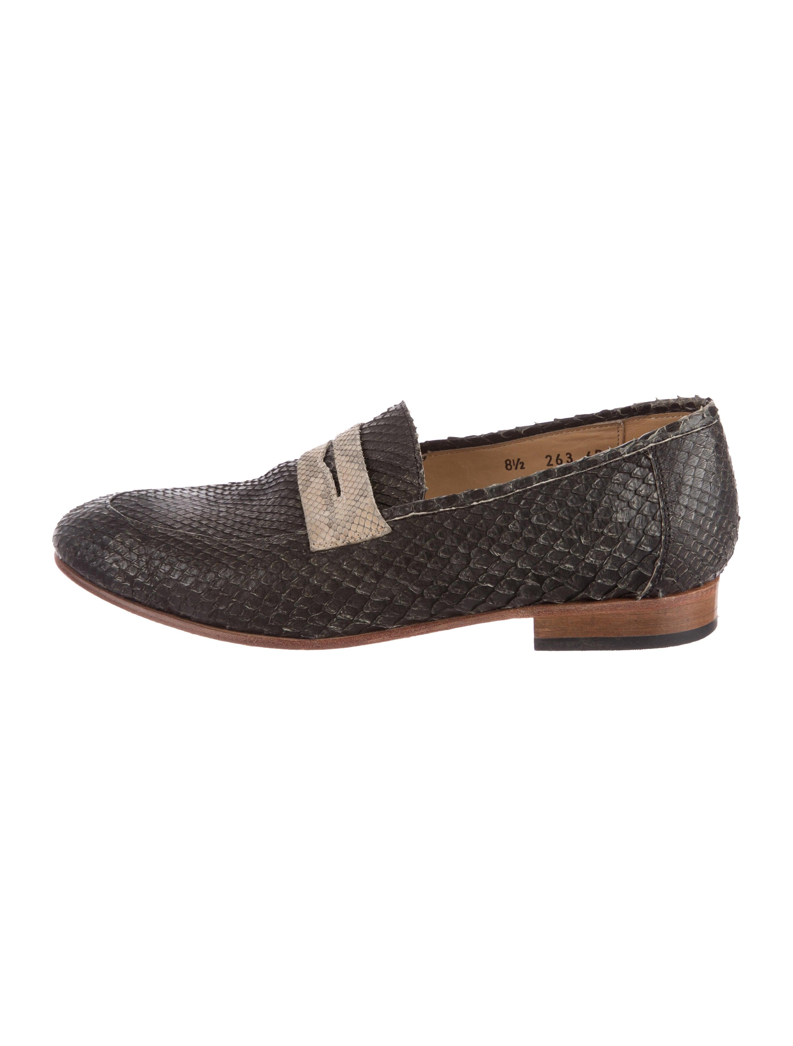 many kinds of cheap online Dieppa Restrepo Snakeskin Round-Toe Loafers cheap official cheap sale nicekicks ZVShBm