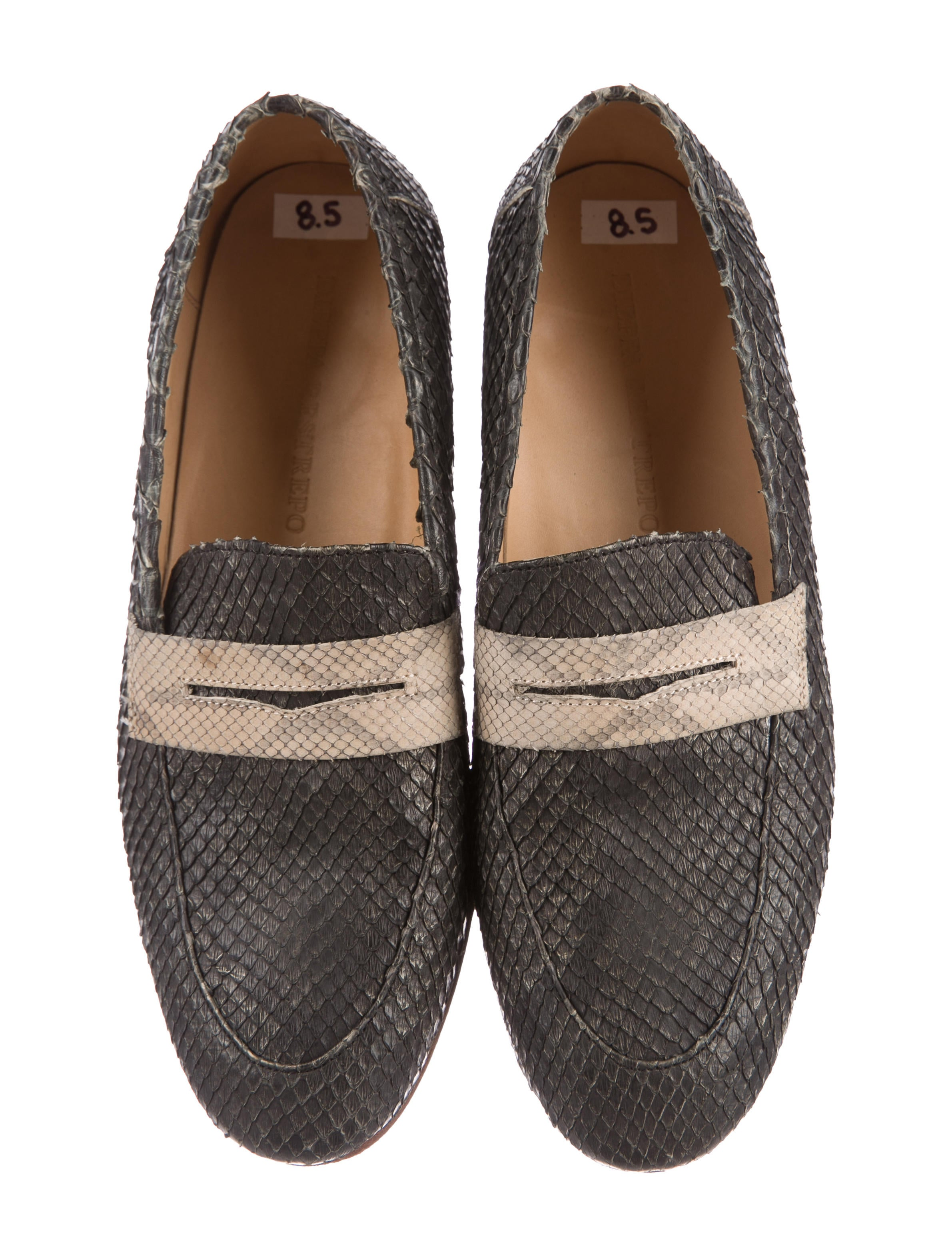 buy cheap visit new cheap sale low cost Dieppa Restrepo Snakeskin Round-Toe Loafers free shipping footlocker perfect cheap online cheap sale newest 0KlJL4RXe4