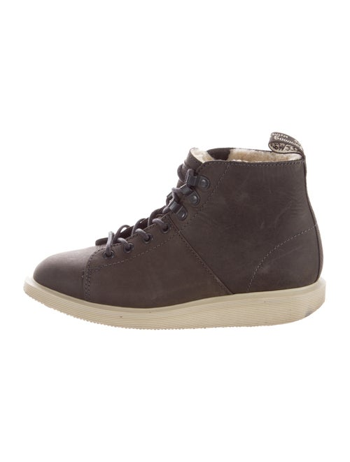 Dr. Martens Leather Round-Toe High-Top Sneakers
