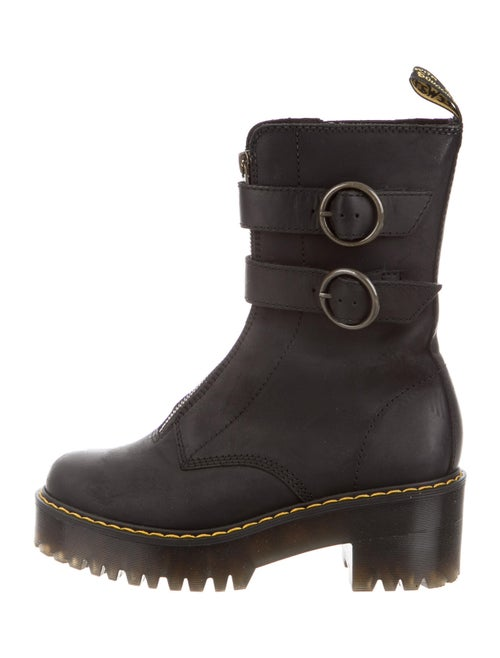 Dr. Martens Tamela Leather Combat Boots Black