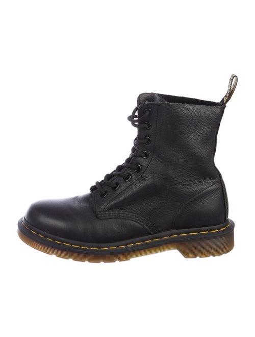 Dr. Martens Leather Combat Boots Blue