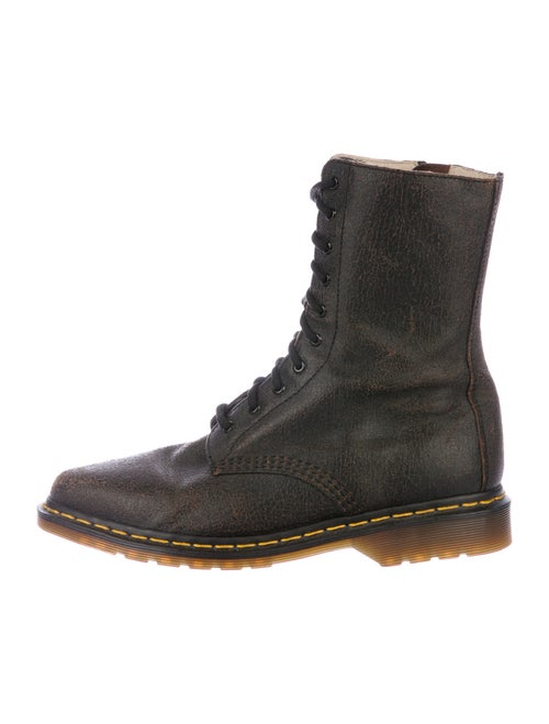 Dr. Martens Leather Combat Boots Brown