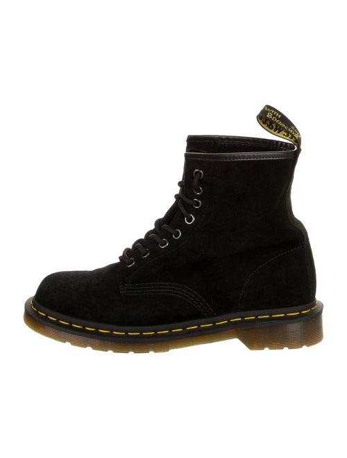 Dr. Martens Suede Combat Boots Black