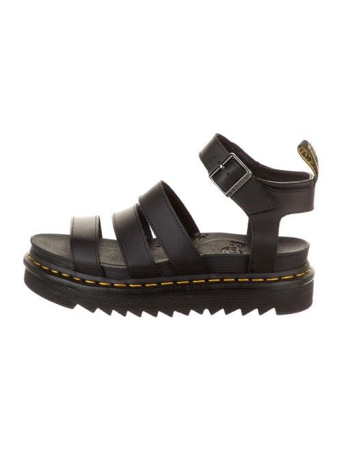 Dr. Martens Leather Gladiator Sandals Black