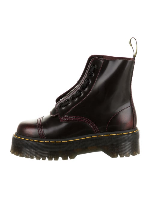 Dr. Martens Leather Combat Boots Red
