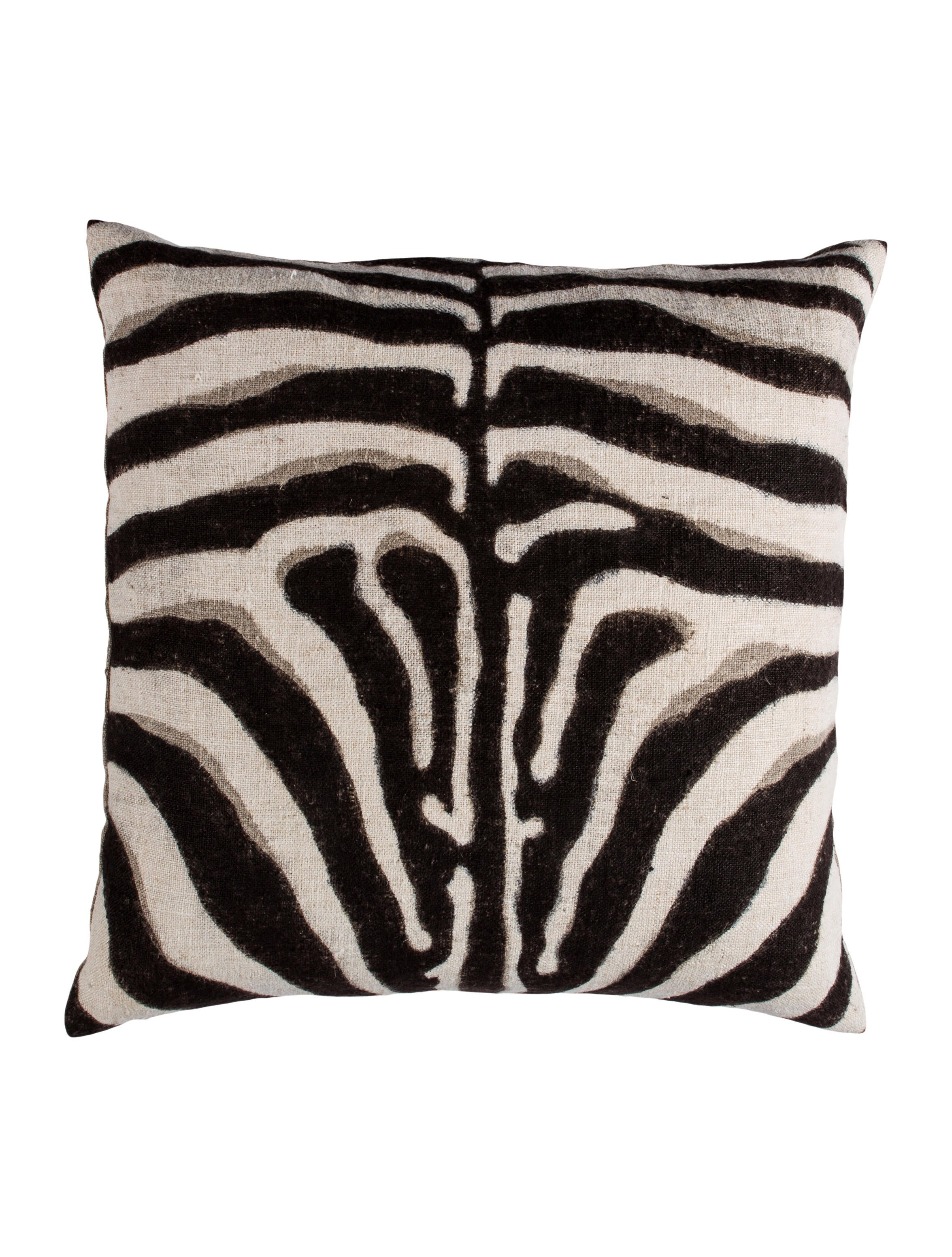 Dransfield & Ross Zebra Print Throw Pillow w Tags Pillows And