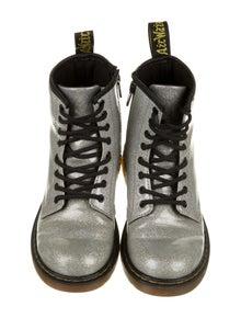 Dr. Martens Kids Girls' Sparkly Combat Boots