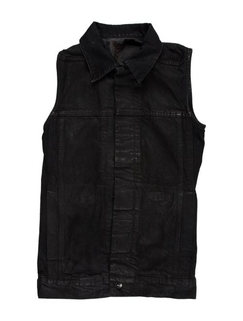 Rick Owens Drkshdw Denim Button-Up Vest denim