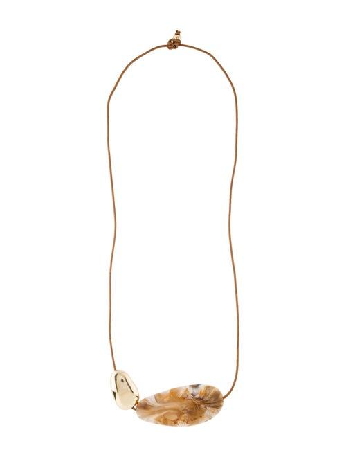 Dinosaur Designs Resin Bead Necklace brass