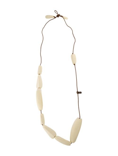 Dinosaur Designs Resin Station Necklace Brown