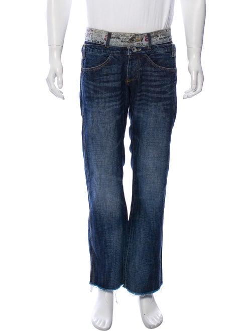 Desigual Denim Straight-Leg Jeans blue