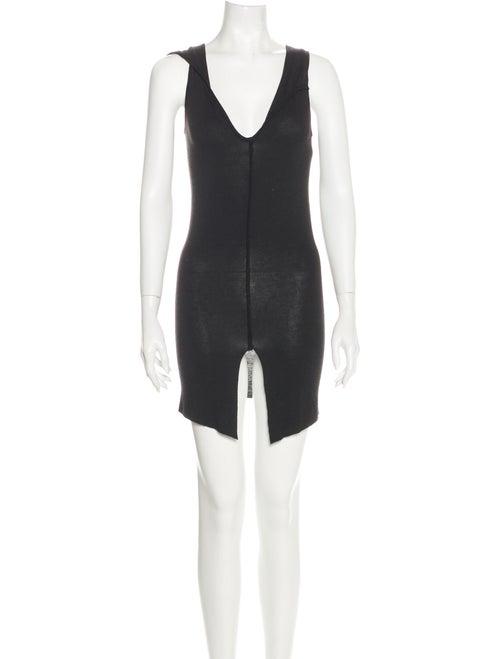 Dita V-Neck Mini Dress Black