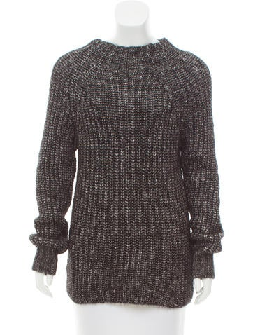 Massimo Dutti Heavy Rib Knit Sweater None