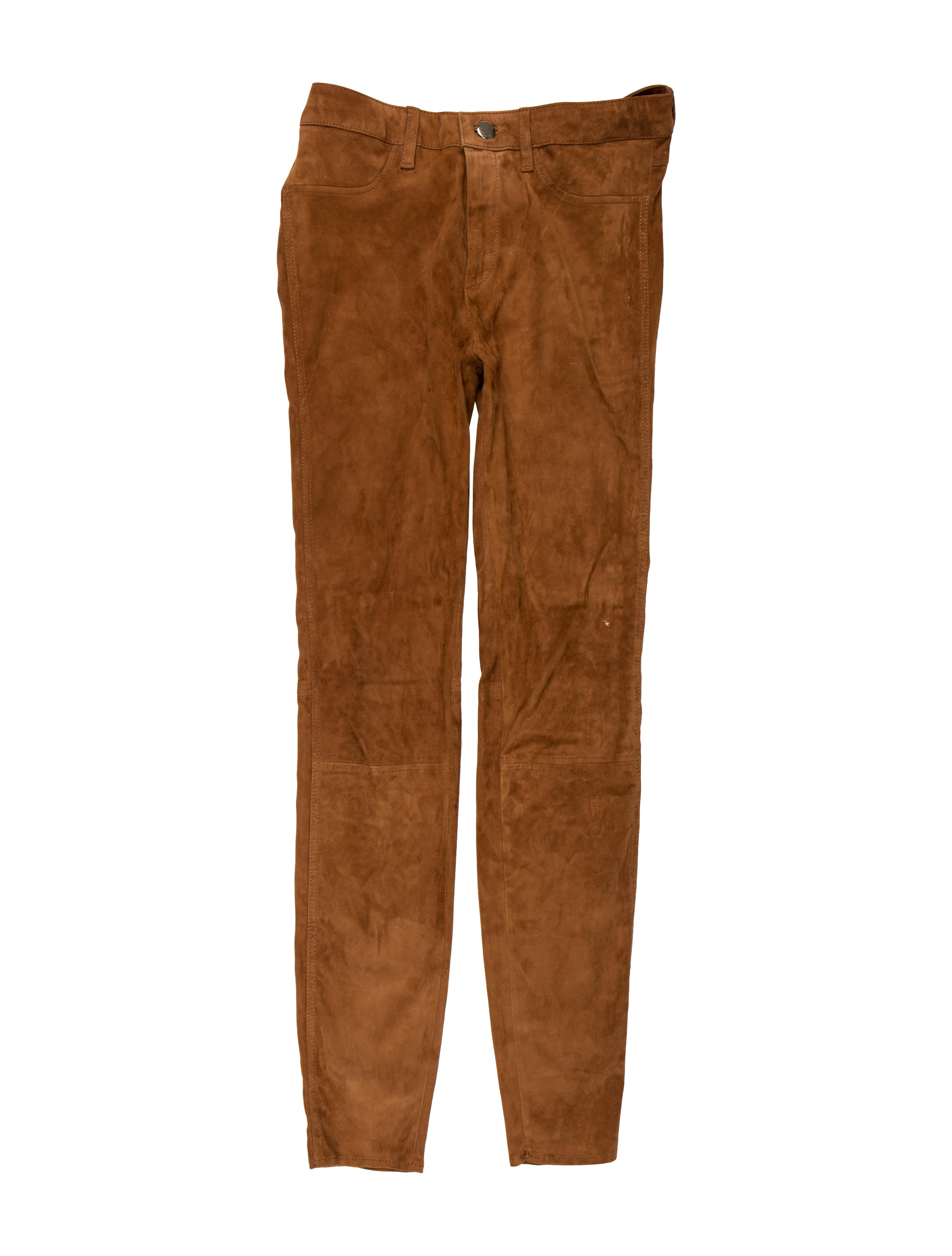 bb8ebcb96f8 Massimo Dutti Suede Mid-Rise Skinny Pants - Clothing - WDTTI20183 ...