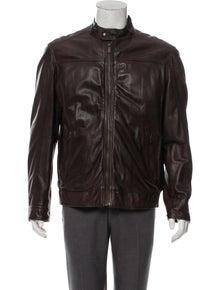 1c7ffba5 Massimo Dutti. Leather Café Racer Jacket