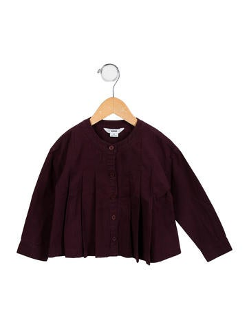 Dinui Girls' Pleated Button-Up Top None
