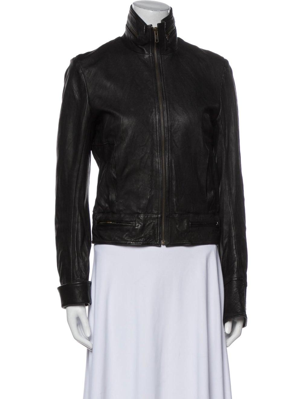 Duarte Leather Biker Jacket Black - image 1