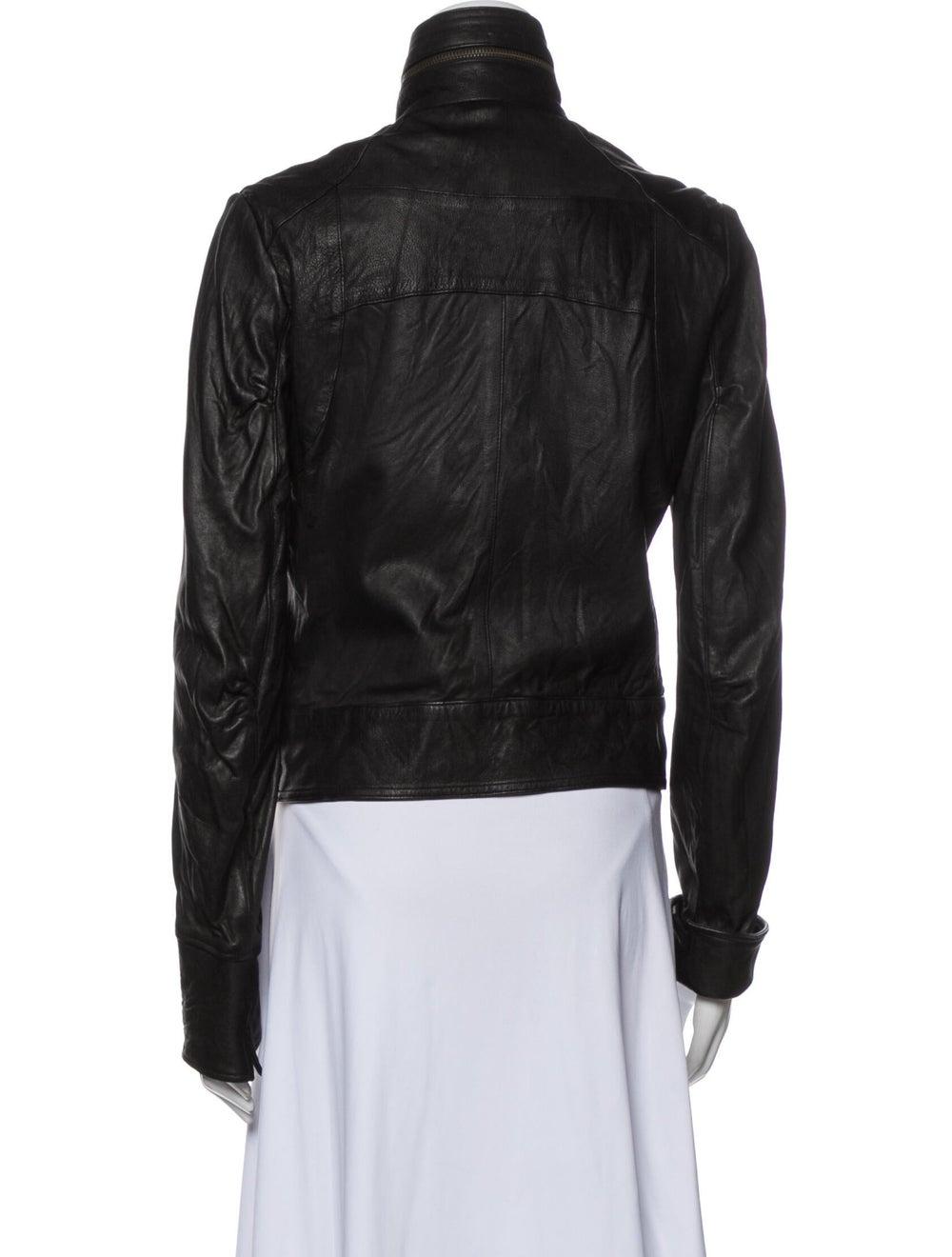Duarte Leather Biker Jacket Black - image 3
