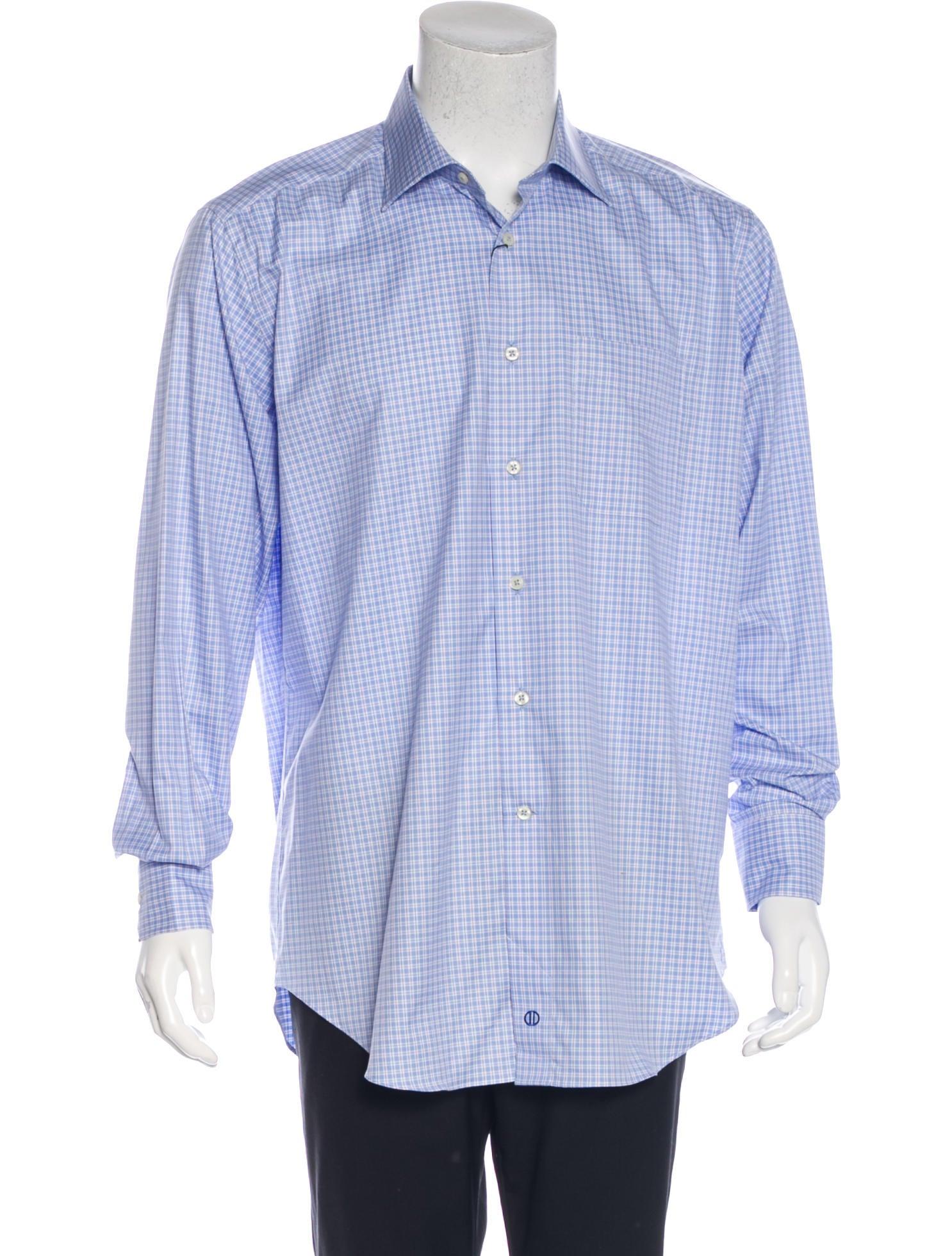 David Donahue Plaid Long Sleeve Shirt W Tags Clothing