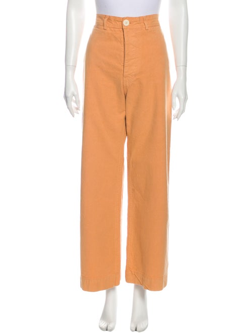 Jesse Kamm High-Rise Wide Leg Jeans Orange