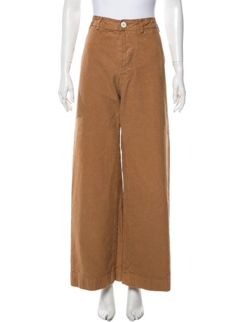 Jesse Kamm Wide Leg Pants Orange