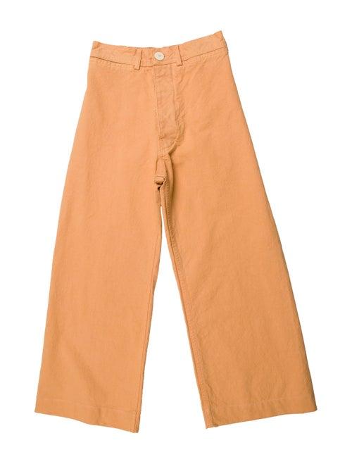 Jesse Kamm High-Rise Wide Leg Jeans Orange