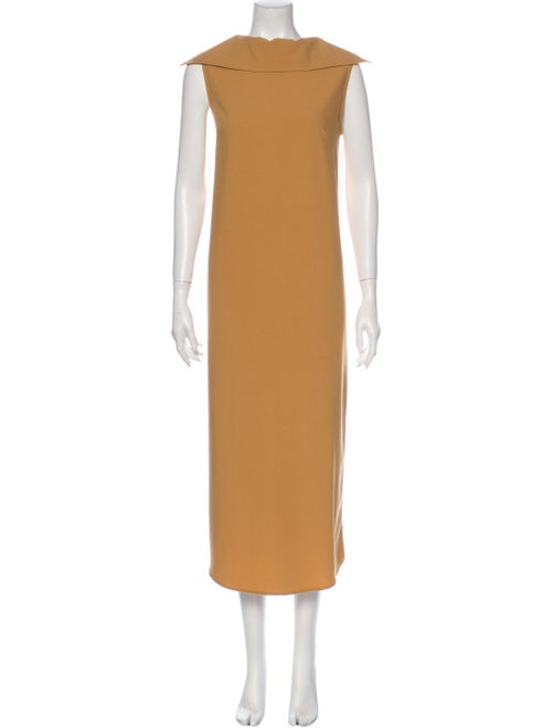 Jesse Kamm Cowl Neck Long Dress