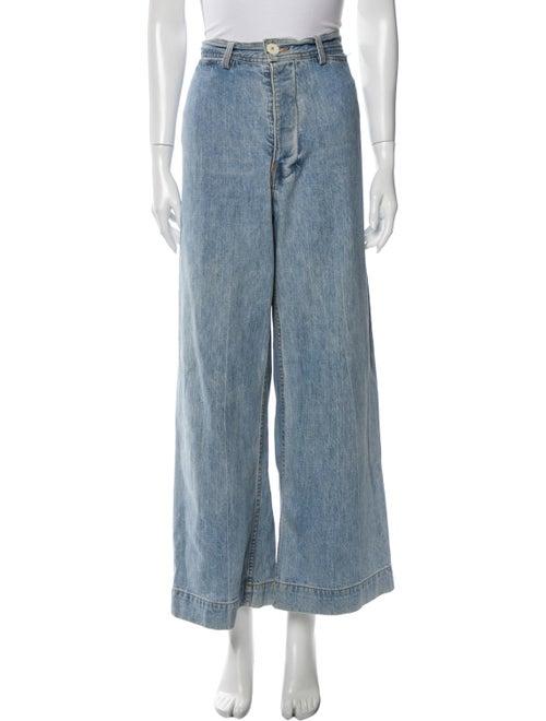Jesse Kamm High-Rise Wide Leg Jeans Blue