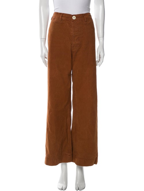 Jesse Kamm Wide Leg Pants Brown