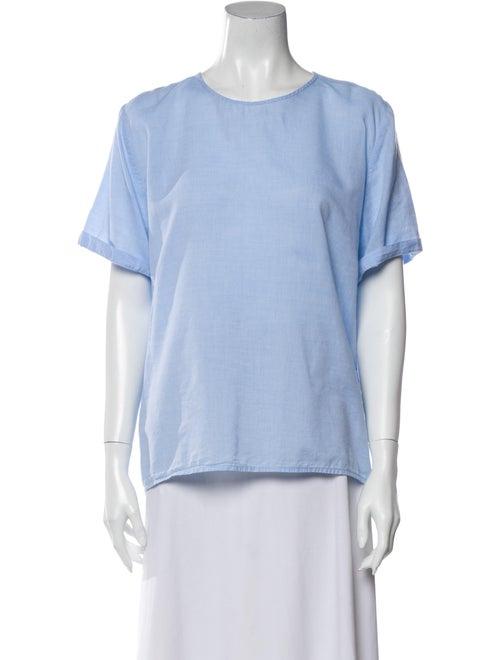 Jesse Kamm Crew Neck Short Sleeve T-Shirt Blue