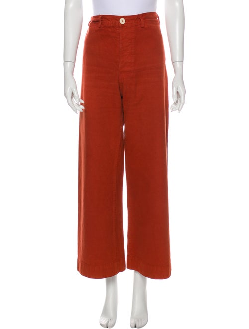 Jesse Kamm Wide Leg Pants Orange