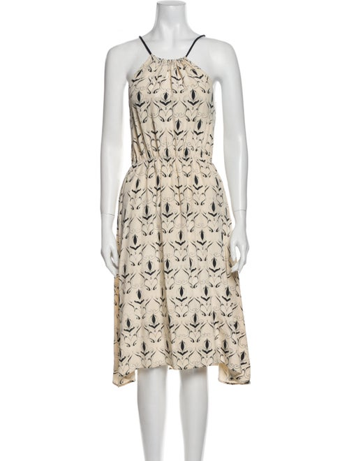 Jesse Kamm Printed Midi Length Dress