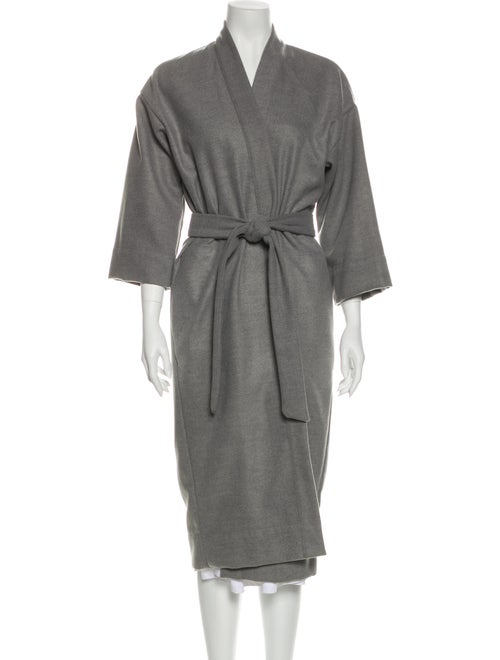 Jesse Kamm Wool Trench Coat Wool