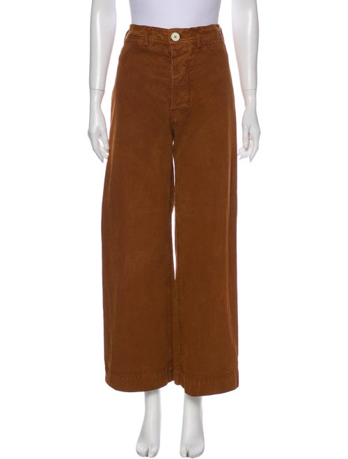 Jesse Kamm High-Rise Wide Leg Jeans Brown